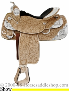 "DISCONTINUED 16"" Tex Tan Temptation Show Saddle 08-1579-23u6"