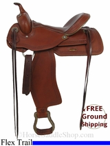 "PRICE REDUCED! 16"" Used Alamo Flex Trail Saddle, Wide Tree usal2900 *Free Shipping*"