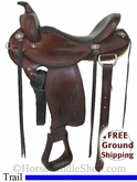"PRICE REDUCED! 16"" Used Allegany Mountain Trail Saddle usag2754 *Free Shipping*"