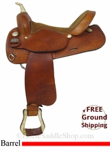 "SOLD 2014/10/09 $700 16"" Used Big Horn Barrel Racing Saddle usbh2883 *Free Shipping*"