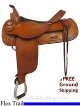 "16"" Used Big Horn Flex Trail Saddle, Wide Tree usbh2930 *Free Shipping*"