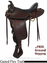 "16"" Used Big Horn Gaited Flex Trail Saddle, Wide Tree usbh2950 *Free Shipping*"