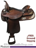 "SOLD 11/16/13 $712.50 PRICE REDUCED! 16"" Used Big Horn Pleasure Saddle usbh2626 *Free Shipping*"
