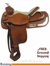 """SOLD 2015/03/19 16"""" Used Big Horn Reining Saddle, Wide Tree usbh2934 *Free Shipping*"""
