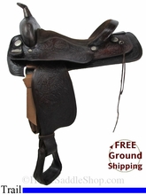 """SOLD 2014/07/11 $650 16"""" Used Big Horn Trail Saddle usbh2838 *Free Shipping*"""