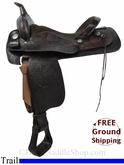"SOLD 2014/07/11 $650 16"" Used Big Horn Trail Saddle usbh2838 *Free Shipping*"