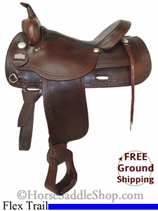 "SOLD 2014/06/21 $814.50 PRICE REDUCED! 16"" Used Big Horn Trail Saddle, Wide Tree usbh2725 *Free Shipping*"