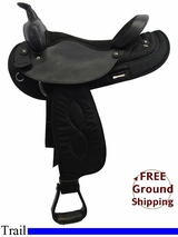 """SOLD 2015/09/22 16"""" Used Big Horn Trail Saddle, Wide Tree usbh3238 *Free Shipping*"""
