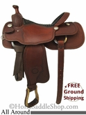 "SOLD 11/30/13 $1250 16"" Used Billy Cook All Around Saddle, Wide Tree usbi2702 *Free Shipping*"