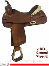 """16"""" Used Billy Cook Barrel Racing Saddle, Wide Tree usbi2885 *Free Shipping*"""