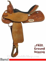 "SOLD 2015/02/19 16"" Used Billy Cook Barrel Racing Saddle, Wide Tree usbi2951 *Free Shipping*"