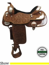 "16"" Used Billy Cook California Wide Show Saddle 9014 usbi3397 *Free Shipping*"