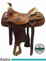 "SOLD 2016/05/04 16"" Used Billy Cook Dally Team Wide Roper Saddle 9111 usbi3440 *Free Shipping*"