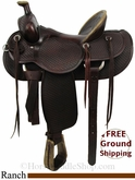 "PRICE REDUCED! 16"" Used Billy Cook Ranch Saddle, Wide Tree usbi2826 *Free Shipping*"