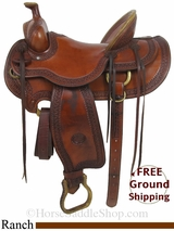 "SOLD 2014/10/11 $1450 16"" Used Billy Cook Ranch Saddle, Wide Tree usbi2896 *Free Shipping*"