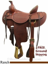 """16"""" Used Billy Cook Ranch Saddle, Wide Tree usbi3069 *Free Shipping*"""