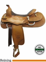 """SOLD 2016/02/04 16"""" Used Billy Cook Reining Saddle, Wide Tree usbi3078 *Free Shipping*"""
