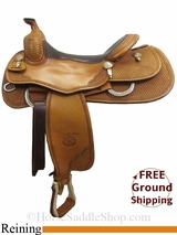 "PRICE REDUCED! 16"" Used Billy Cook Reining Saddle, Wide Tree usbi3078 *Free Shipping*"