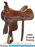 "PRICE REDUCED! 16"" Used Billy Cook Roping Saddle, Wide Tree usbi2664 *Free Shipping*"