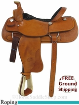 "16"" Used Billy Cook Roping Saddle, Wide Tree usbi2879 *Free Shipping*"