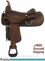 "16"" Used Billy Cook Roping Saddle, Wide Tree usbi2894 *Free Shipping*"