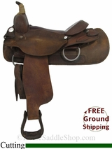 "SOLD 2014/12/07 $625 16"" Used Billy Cook Cutting Saddle, Wide Tree usbi2894 *Free Shipping*"