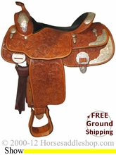"SOLD 2014/07/07 $1799 PRICE REDUCED! 16"" Used Billy Cook Show Saddle usbi2378 *Free Shipping*"
