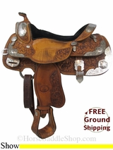 "16"" Used Billy Cook Show Saddle, Wide Tree usbi2961 *Free Shipping*"