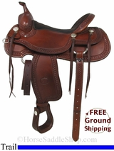 "SOLD 2014/12/05 $1195 16"" Used Billy Cook Trail Saddle, Wide Tree usbi2915 *Free Shipping*"