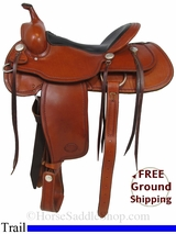 "16"" Used Billy Cook Trail Saddle, Wide Tree usbi2967 *Free Shipping*"