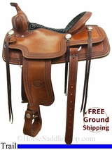 """SOLD 2015/05/01 16"""" Used Billy Cook Trail Saddle, Wide Tree usbi3072 *Free Shipping*"""