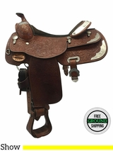 "16"" Used Billy Cook Wide Close Contact Show Saddle 2098 usbi3573 *Free Shipping*"