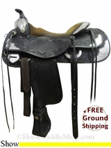 "PRICE REDUCED! 16"" Used Bob's Custom Show Saddle usbc3004 *Free Shipping*"