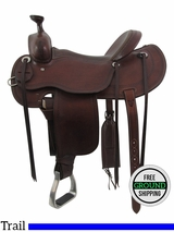 """SOLD 2016/03/29 16"""" Used Cashel Wide Trail Saddle usch3384 *Free Shipping*"""