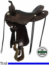 """SOLD 2017/03/17  16"""" Used Cashel Wide Trail Saddle usch3714 *Free Shipping*"""