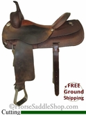 "PRICE REDUCED! 16"" Used Circle Y Cutting Saddle uscy2608 *Free Shipping*"