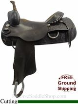 "16"" Used Circle Y Cutting Saddle, Wide Tree uscy3142 *Free Shipping*"