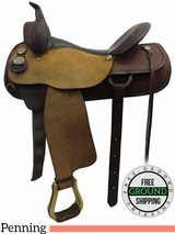 "16"" Used Circle Y Penning Saddle, Wide Tree uscy3219 *Free Shipping*"