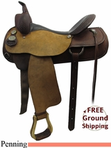 """PRICE REDUCED! 16"""" Used Circle Y Cutting Saddle, Wide Tree uscy3219 *Free Shipping*"""