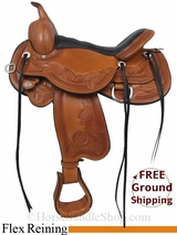 "SOLD 2015/01/27 16"" Circle Y/Julie Goodnight Monarch 1752 Reining Saddle, Floor Model uscy2982 *Free Shipping*"