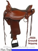 "16"" Used Circle Y Flex2 Trail Saddle, Extra Wide Tree uscy2753 *Free Shipping*"
