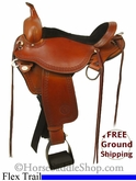 "PRICE REDUCED! 16"" Used Circle Y Flex2 Trail Saddle, Wide Tree uscy2709 *Free Shipping*"