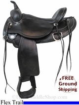 "16"" Circle Y Highland 1664 Flex2 Trail Saddle, Wide Tree, Floor Model uscy2984 *Free Shipping*"