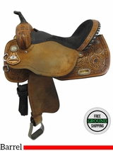 "16"" Used Circle Y Johnson Sport Line Wide Barrel Saddle 2606 uscy3532 *Free Shipping*"