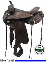"15"" Used Circle Y Julie Goodnight Wind River Medium Flex2 Trail Saddle 1750 uscy3490 *Free Shipping*"