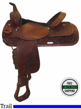 "16"" Used Circle Y Medium Trail Saddle 3604, uscy3456 *Free Shipping*"