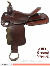 "PRICE REDUCED! 16"" Used Circle Y Penning Saddle, Wide Tree uscy2874 *Free Shipping*"