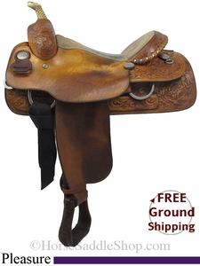 "SOLD 2014/07/28 $760 16"" Used Billy Cook Pleasure Saddle uscy2800 *Free Shipping*"