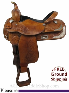 "SOLD 2014/09/16 $807.50 PRICE REDUCED! 16"" Used Circle Y Pleasure Saddle uscy2807 *Free Shipping*"