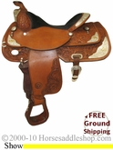 "PRICE REDUCED! 16"" Used Circle Y Show Saddle uscy2104 *Free Shipping*"